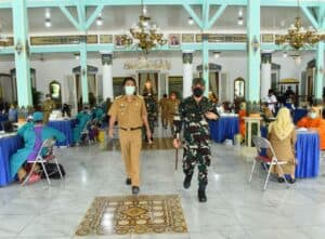 Jalin Silaturahmi, Danlanud Iswahjudi Kunjungi Bupati Madiun