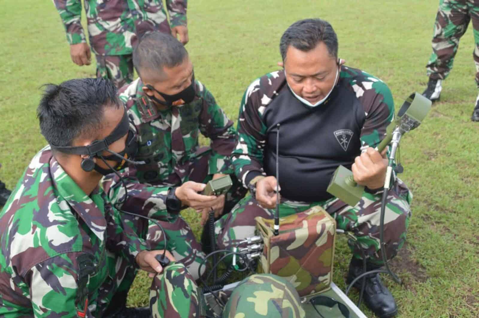 Denhanud 474 Paskhas Melaksanakan Latihan Perorangan Lanjutan