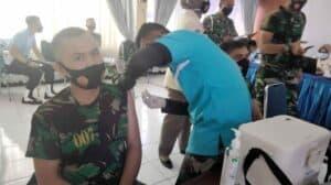 Prajurit Lanud Sutan Sjahrir Laksanakan Vaksinasi Covid-19 Gelombang I