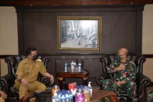 Danlanud Soewondo Silaturahmi ke Wali Kota Medan