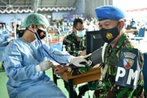 Panglima TNI Tinjau Serbuan Vaksinasi di Lanud Adisutjipto