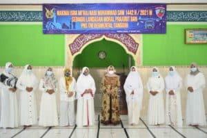 Peringatan Isra Mi'raj Nabi Muhammad SAW 1442 H/2021 M di Lanud J.B. Soedirman