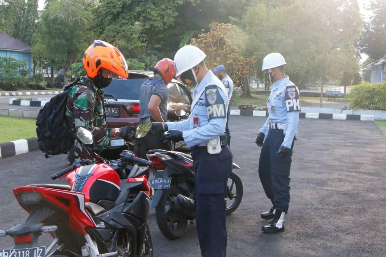Satpom Lanud Adisutjipto Gelar Opsgaktib dalam rangka HUT ke-75 TNI AU