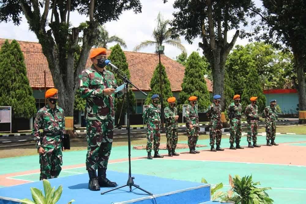 Dankorpaskhas Pimpin Upacara Penyambutan Purna Tugas Satgas Pamrahwan Papua Ta 2020/2021