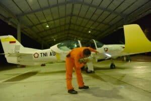 Pembukaan Latihan Terbang Malam siswa Kursus Dasar Operator PTTA Angkatan ke-3