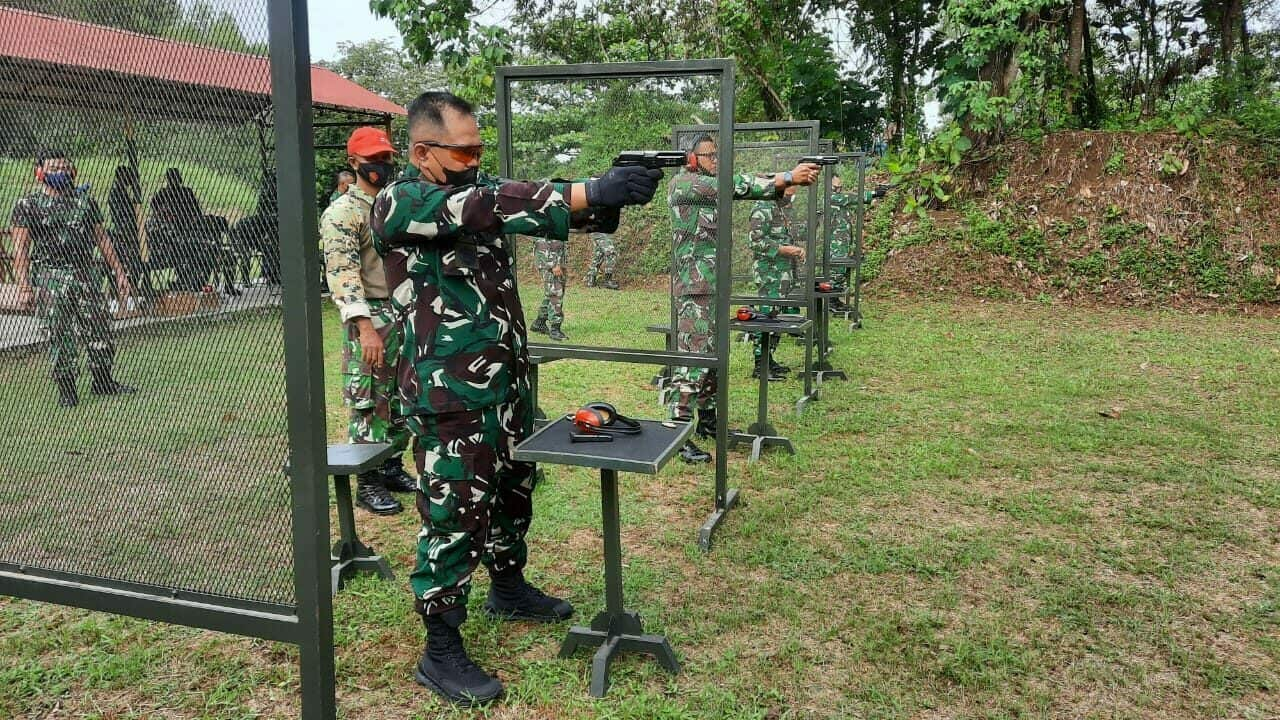 Prajurit Lanud Sutan Sjahrir Laksanakan Latihan Menembak TW I Tahun 2021