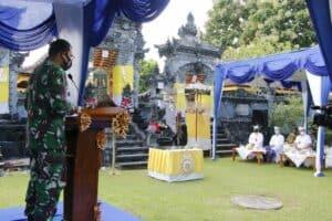 Danlanud Adisutjipto hadiri Uparacara Memungkah Karya Ngenteg Linggih Pura Vaikuntha Vyomantara.