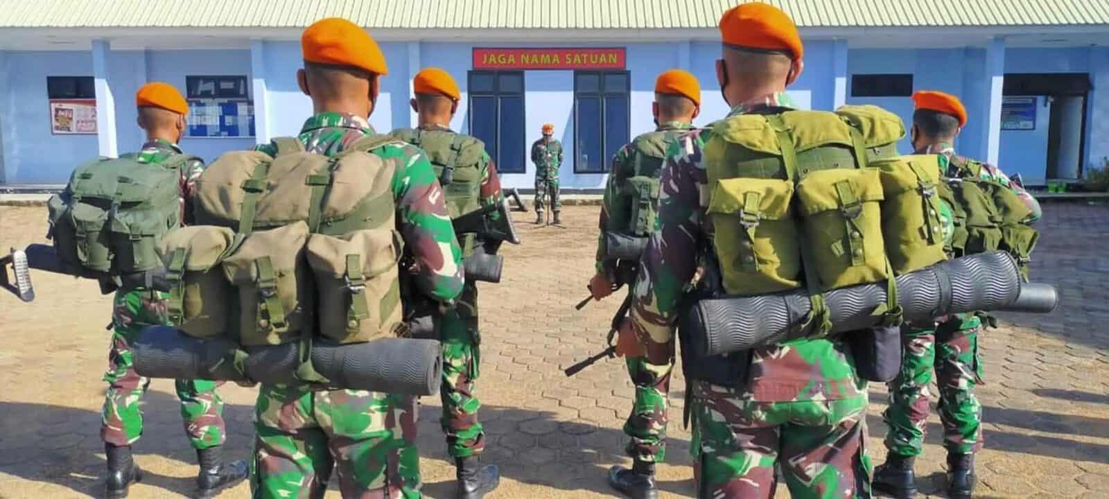 Komandan Detasemen Hanud 473 Paskhas Pimpin Apel Pemberangkatan Personel Satgas Pam Alutsista Tni Au Satrad 212 Ranai