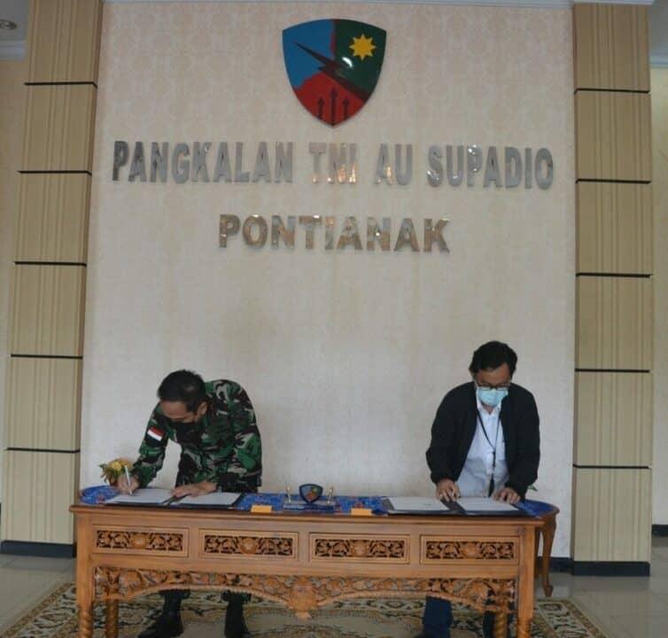 Lanud Supadio Jalin Kerjasama Dengan PT. AP II Bandara Internasional Supadio