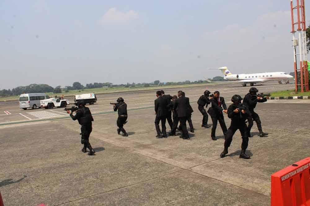 Yonko 461 Paskhas Melaksanakan Operasi PAM KTT Asean Leaders