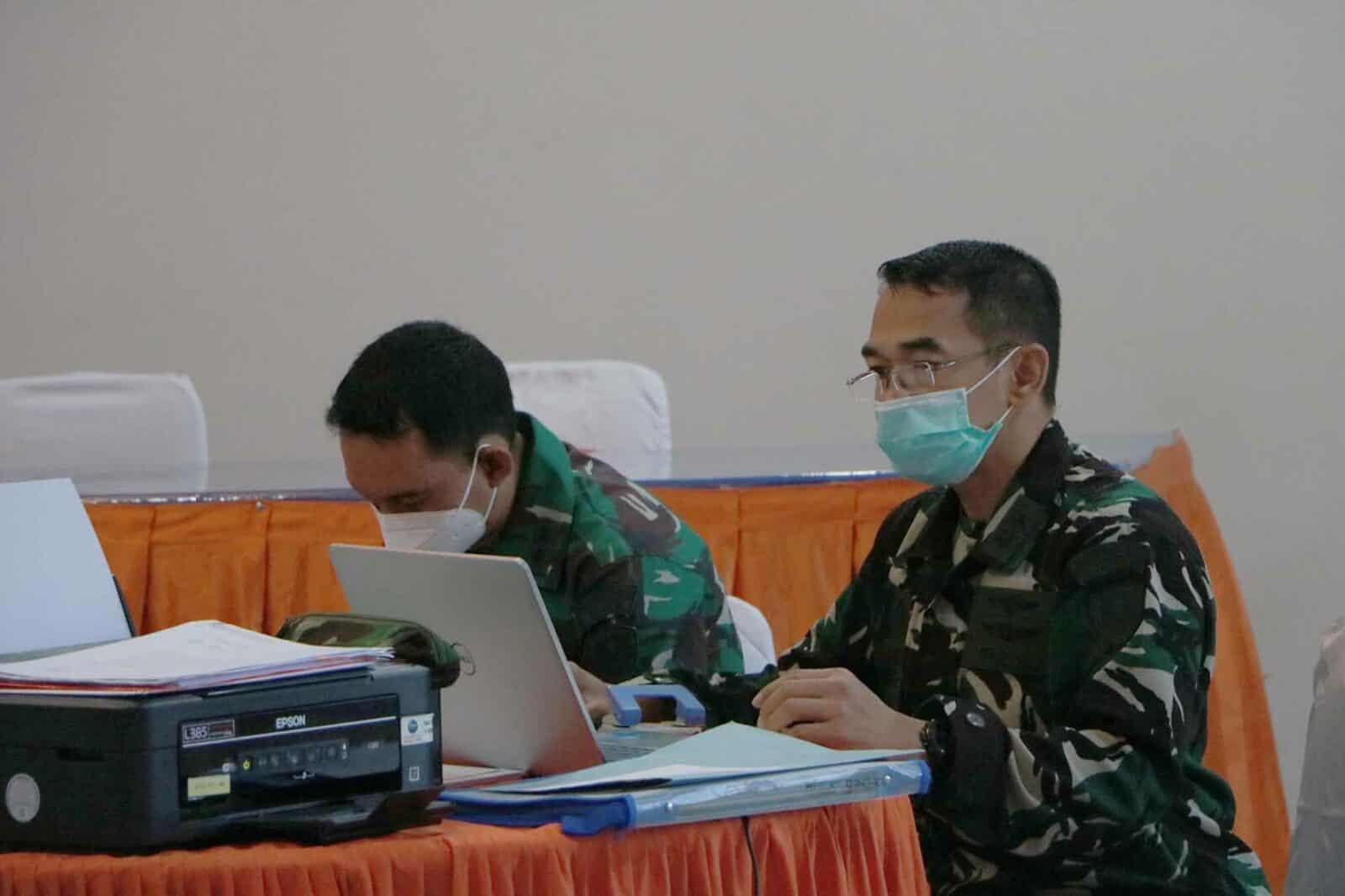 Itjenau Laksanakan Uji Petik Reviu Pengadaan Barang dan JasaTW I Th. 2021 Di Mako Korpskhas.