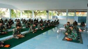 Yonko 462 Paskhas Laksanakan Do'a Bersama Dalam Rangka Hut Ke-75 TNI AU Tahun 2021