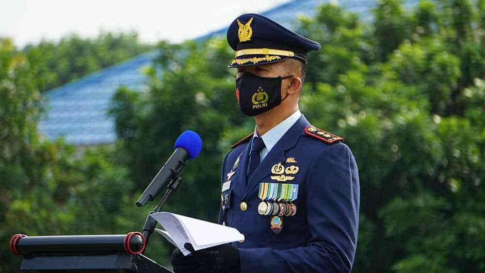 Yonko 462 Paskhas Laksanakan Upacara HUT Ke 75 TNI AU