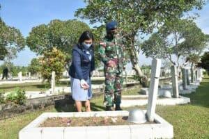 Sambut HUT Ke-75 TNI AU Lanud Supadio, Laksanakan Ziarah Rombongan