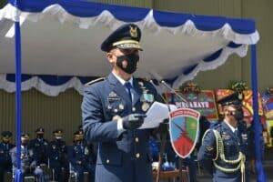 Danlanud Supadio Pimpin Upacara Peringatan HUT Ke-75 TNI AU Di Lanud Supadio