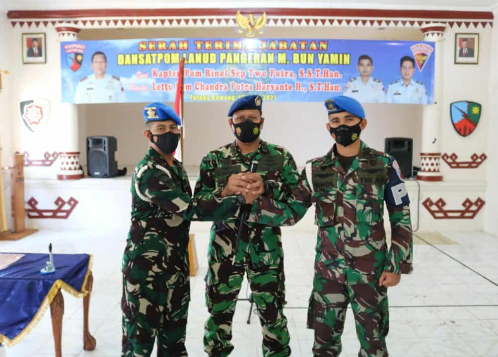 Danlanud Pangeran M. Bun Yamin Pimpin Sertijab Dansatpom