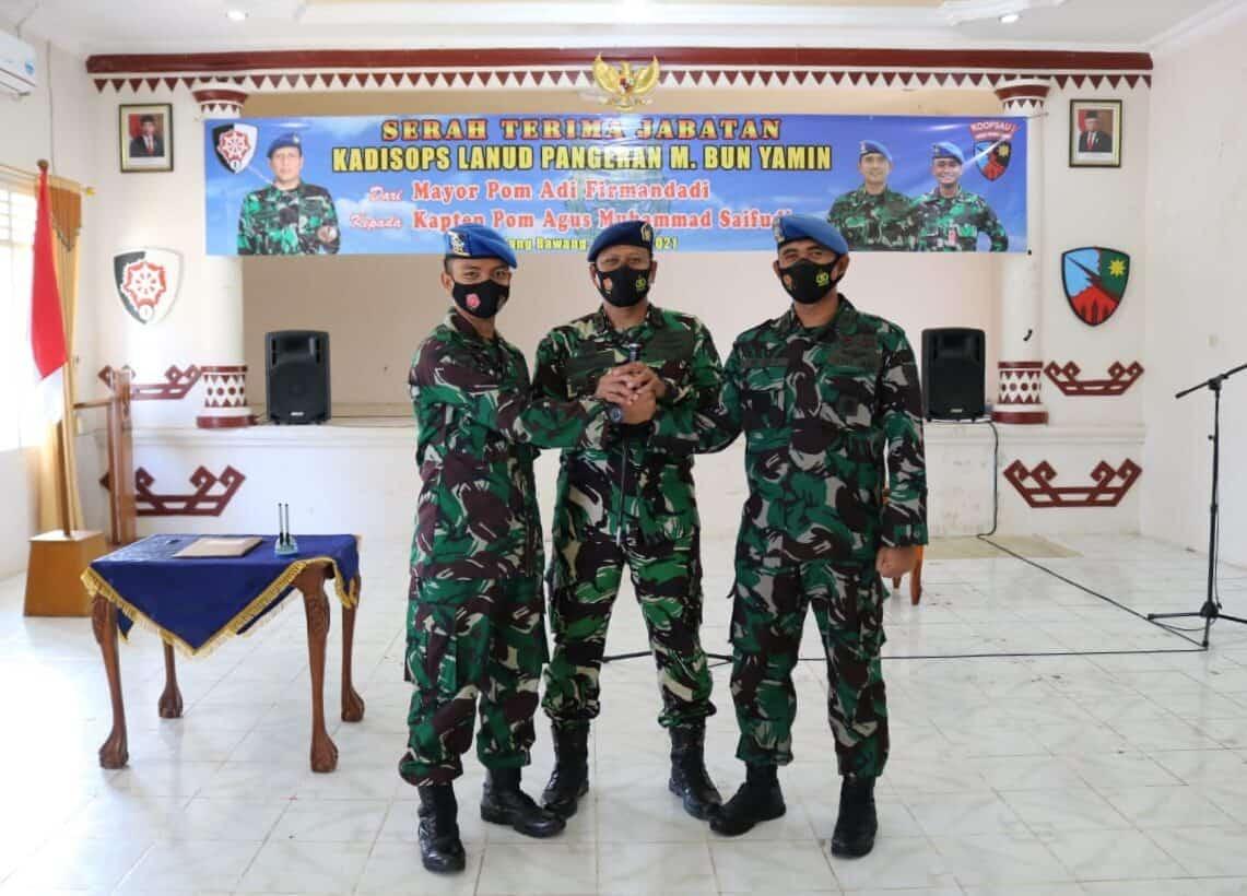 Danlanud Pangeran M. Bun Yamin Pimpin Upacara Sertijab Kadisops