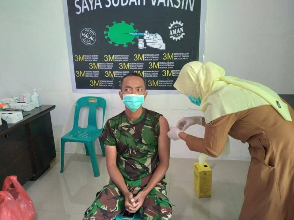 Personel Lanud Mus, Laksanakan Vaksinasi Gelombang I Tahap II.