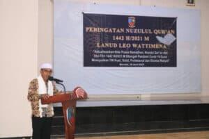Lanud Leo Wattimena Memperingati Nuzulul Qur'an 1442 H/2021 M