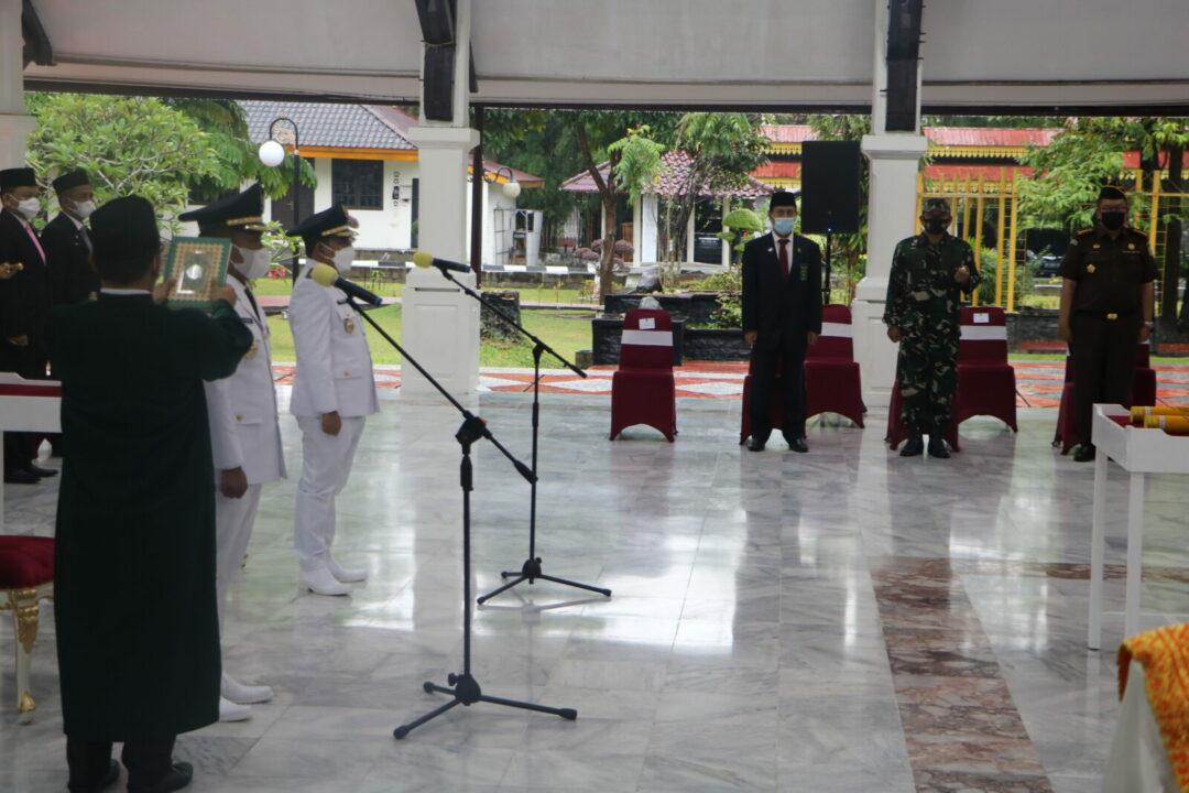 Danlanud Rsn Hadiri Pelantikan Bupati Kabupaten Pelalawan