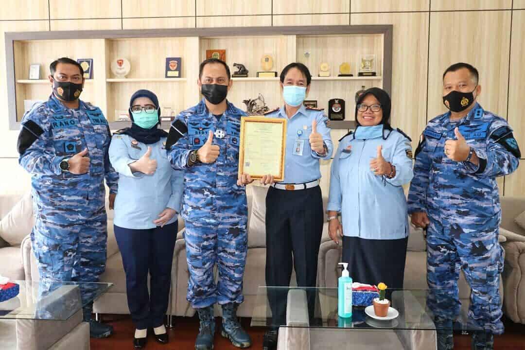 Kepala Kantor Wilayah Kementrian Hukum Provinsi Kalimantan Timur Mengunjungi Lanud Dhomber