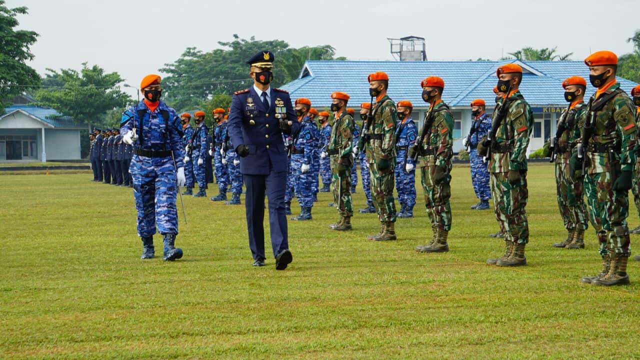 Yonko 462 Paskhas Laksanakan Upacara HUT Ke 75 TNI AU Tahun 2021