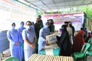 Peringati HUT Ke-75 TNI AU, Lanud Sultan Hasanuddin dan PIA Ardhya Garini Cabang 7/D II Gelar Bakti Sosial