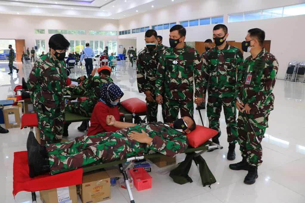 Menjelang Hari TNI AU ke-75 Lanud Abd Saleh dan Insub Gelar Donor Darah