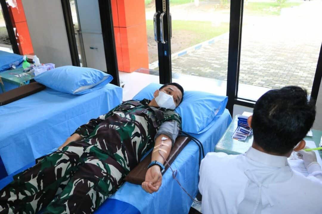 Peringatan ke-75 Hari TNI AU, Lanud Iswahjudi Gelar Donor Darah