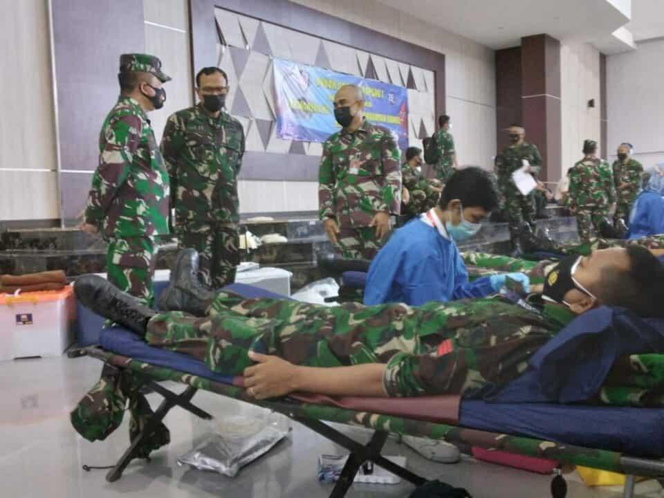 Peringati HUT Ke-75 Hari TNI AU, Koopsau I Gelar Donor Darah