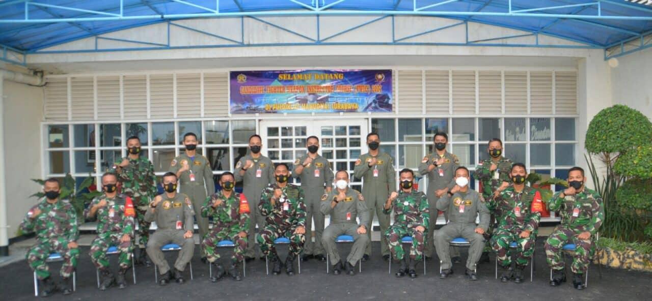 KUNJUNGAN CANDIDATE FWIC TNI AU 2021 KE PUSDIKLAT HANUDNAS SURABAYA