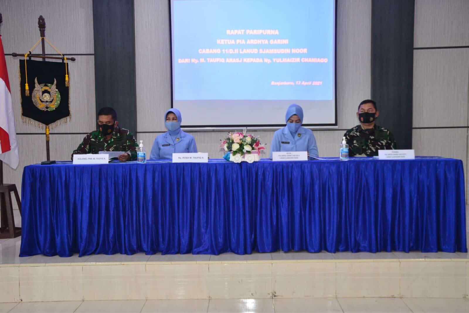 Rapat Paripurna PIA Ardhya Garini Cab.11/D.II Lanud Sjamsudin Noor