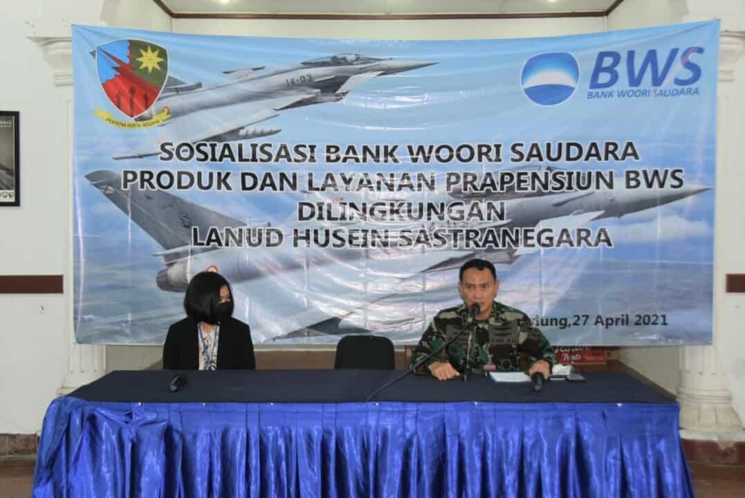 Sosialisasi tentang pembekalan dan layanan Perbankan di Lanud Husein Sastranegara
