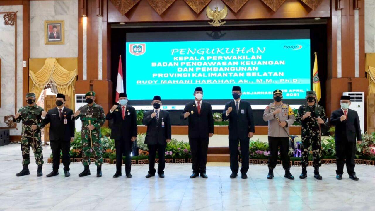 Komandan Lanud Sjamsudin Noor Hadiri Pelantikan Bupati dan Wakil Bupati Kotabaru dan Kepala Perwakilan BPKP Provinsi Kalimantan Selatan