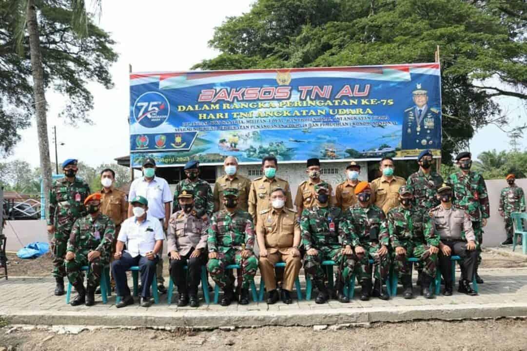 Berpartisipasi Dalam Bhakti Sosial Dalam Rangka Memperingati HUT ke-75 TNI Angkatan Udara