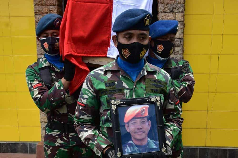 Pemakaman Militer Personil Lanud Had Serka Eka Suwiantoro