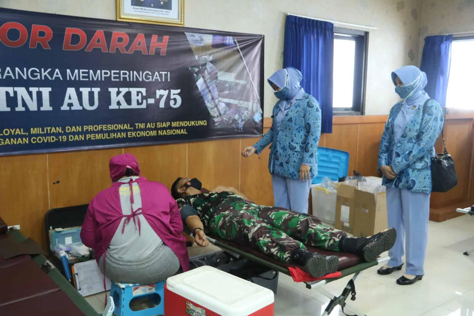 Peringati Hari TNI Angkatan Udara ke-75, Lanud I Gusti Ngurah Rai Gelar Donor Darah dan Donor Plasma Konvalesen