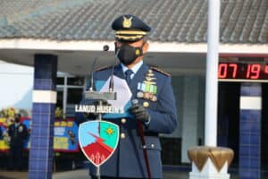 Upacara Peringatan HUT TNI AU ke-75 di Lanud Husein Sastranegara