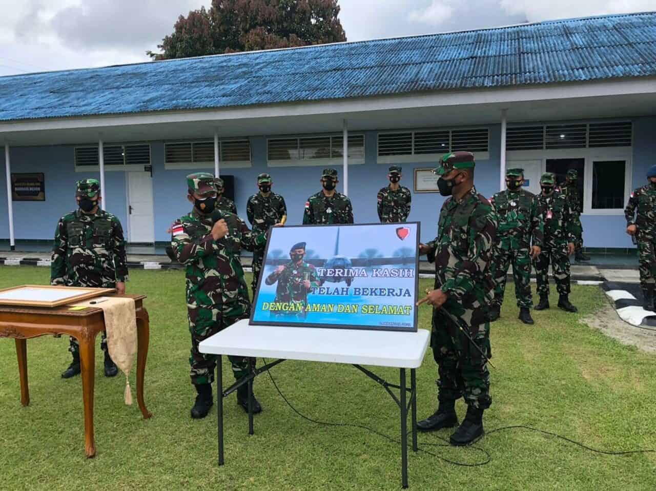Kunjungan Kerja Pangkoopsau III di Lanud Silas Papare Jayapura