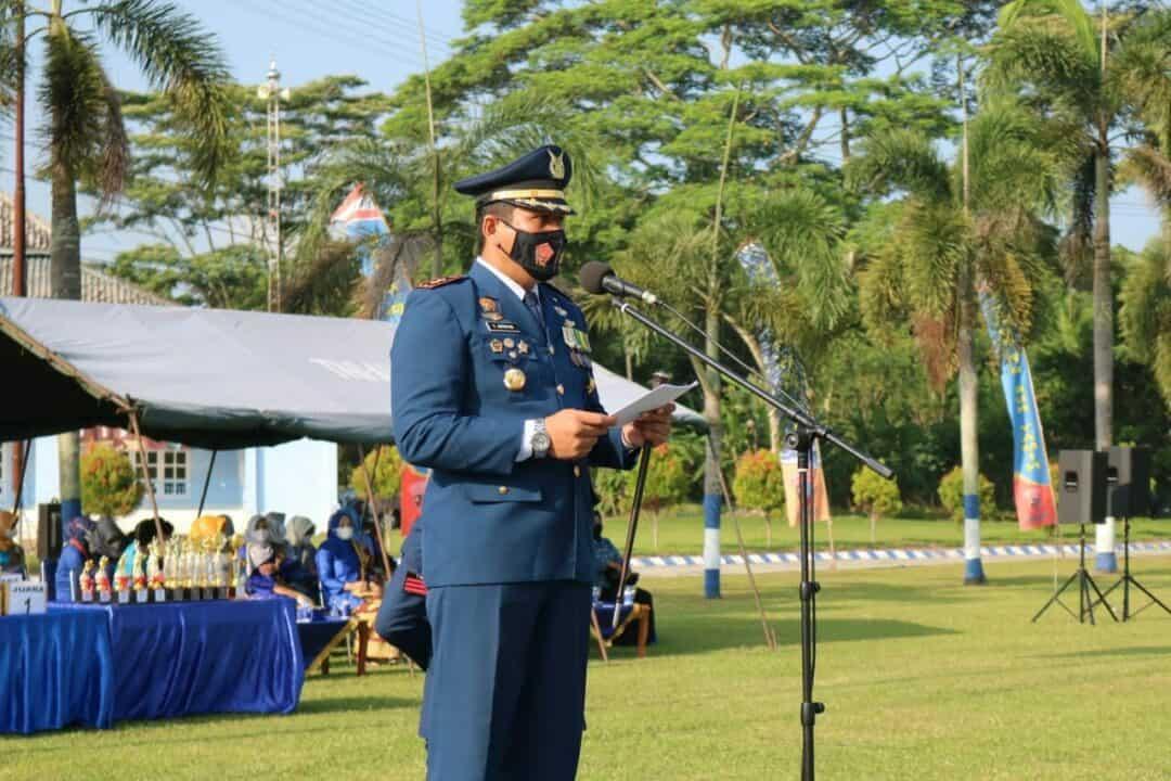 Puncak Peringatan HUT Ke-75 TNI AU Di Lanud Pangeran M. Bun Yamin Ditutup Dengan Upacara