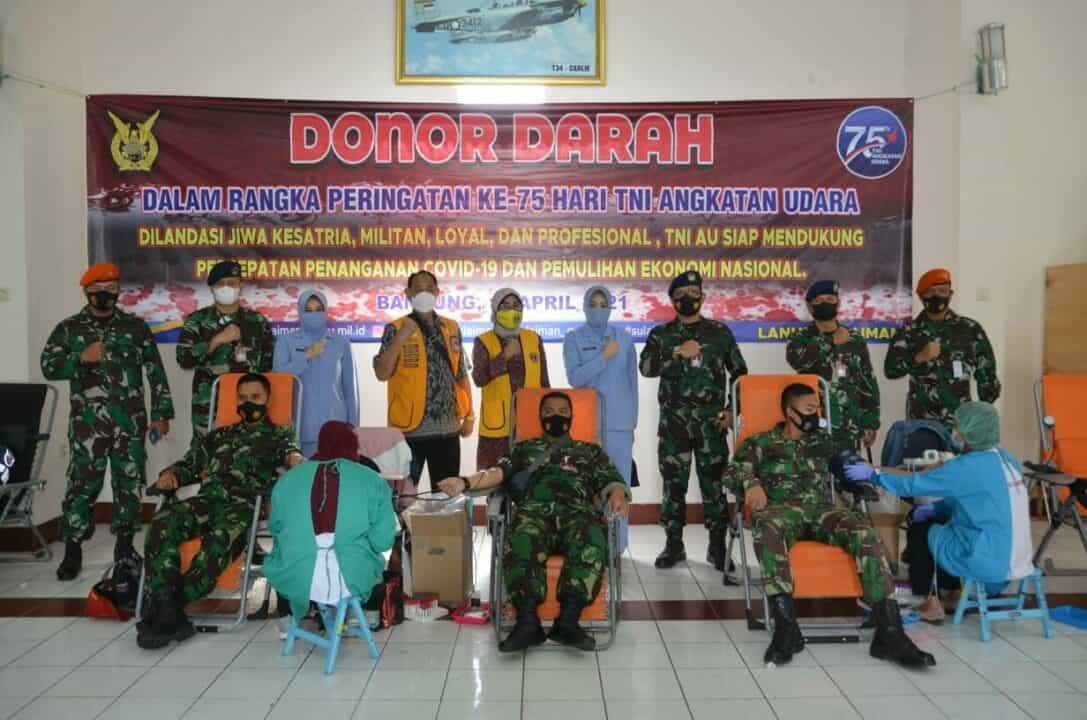 Aksi Sosial Donor Darah dalam Rangka Memperingati ke-75 Hari TNI AU