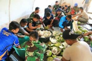 Danlanud Leo Wattimena Membuat Pupuk Organik Cair Jamu Sehat Tanaman/Ternak (JST)