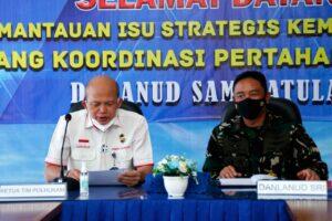 Danlanud Sam Ratulangi Manado Terima Kunjungan Tim Kemenko Polhukam