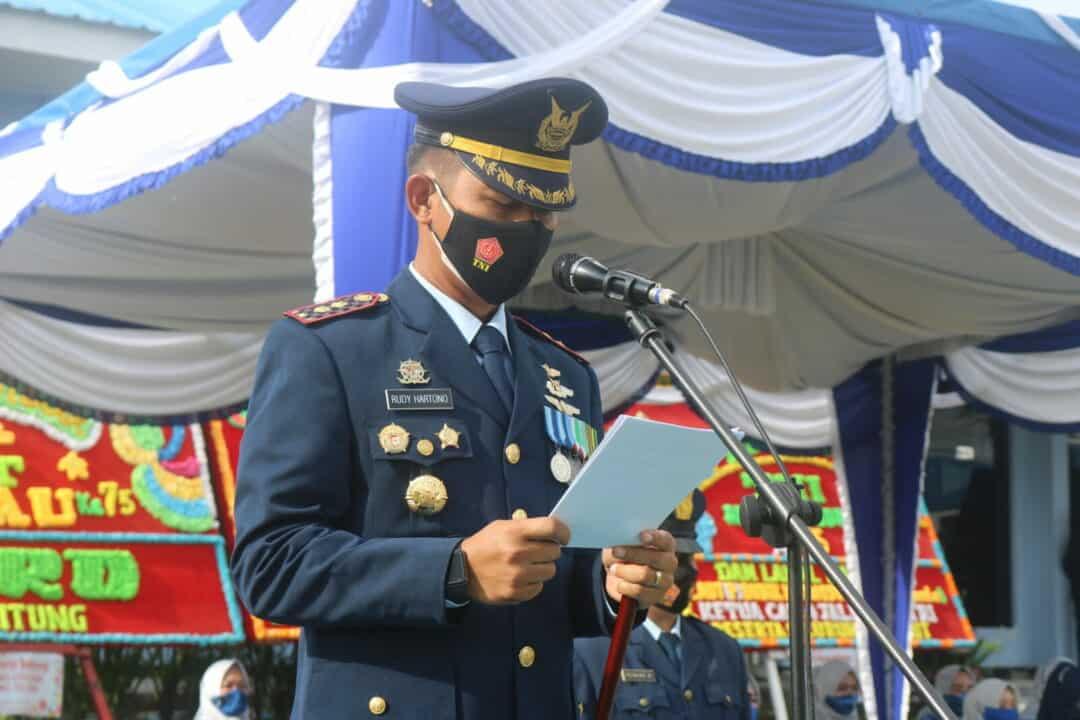 Danlanud ASH Pimpin Upacara Peringatan HUT Ke 75 TNI AU