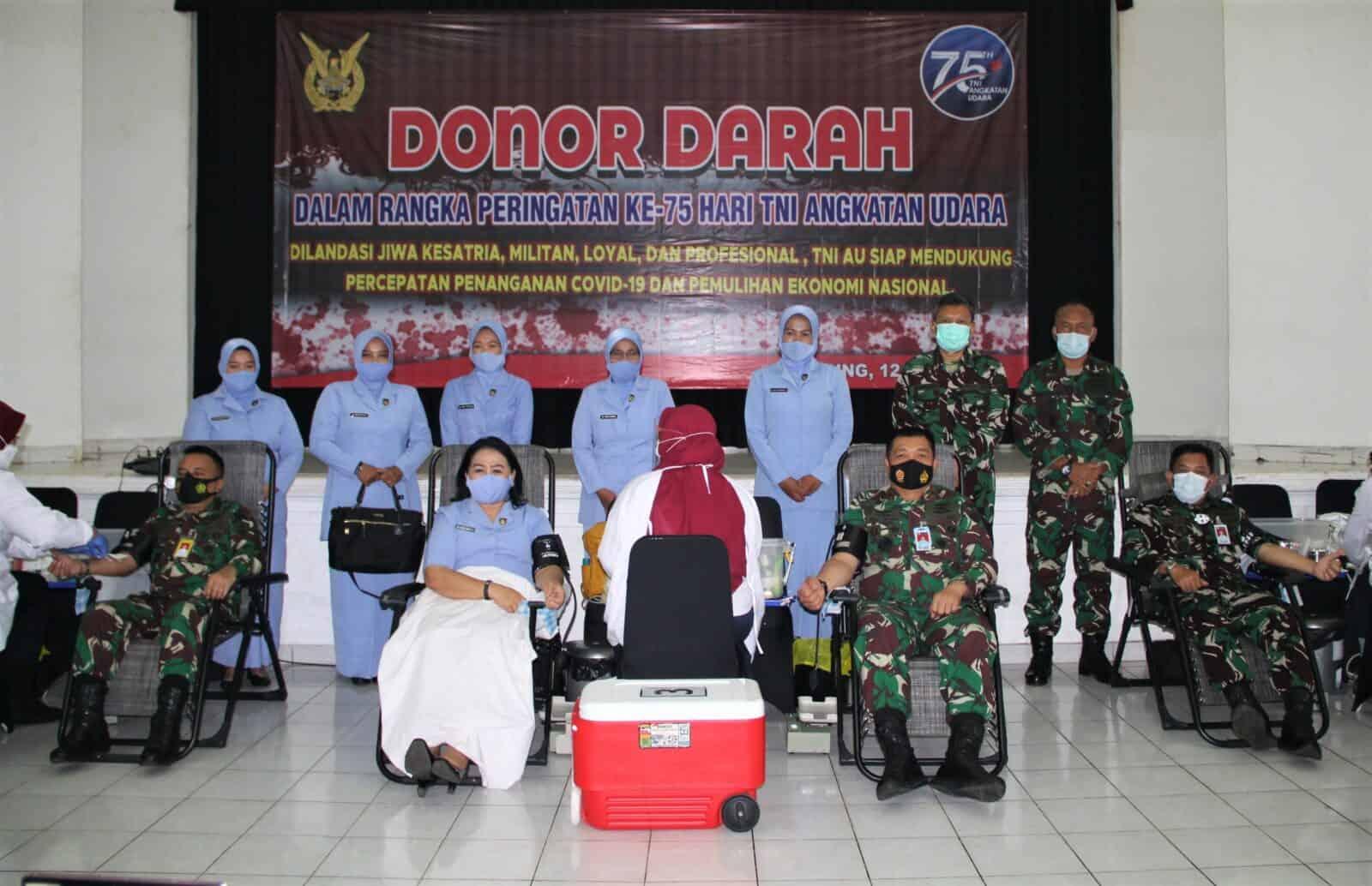 117 Kantong Darah Disumbangkan TNI AU Bakorda Bandung