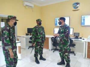 Kunjungan Kerja Pangkosekhanudnas I di Satrad 21