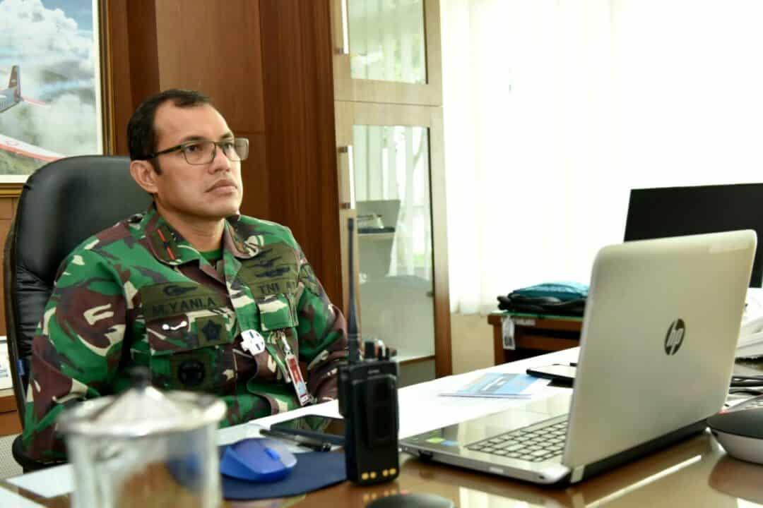 Danlanud Adisutjipto beserta Komandan satuan jajaran ikuti kegiatan seminar Air Power secara virtual.