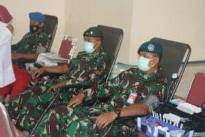 Rangkaian Peringatan HUT ke-75 TNI AU, Lanud SMH Gelar Donor Darah