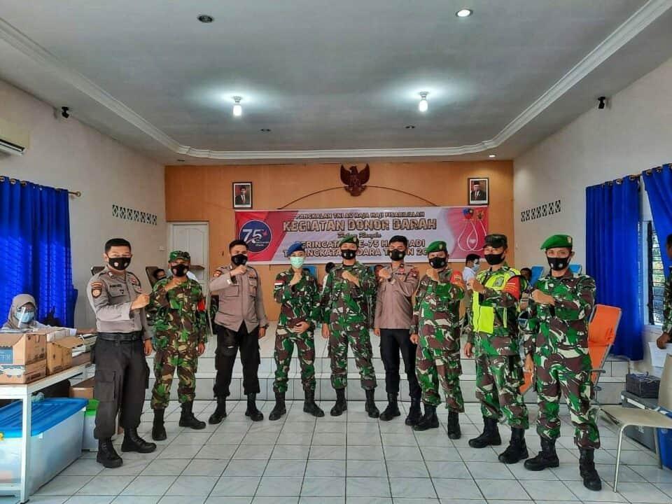 Sambut Peringatan ke-75 Hari TNI AU, Lanud RHF Gelar Donor Darah