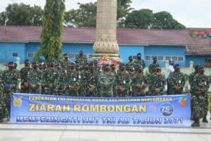 Lanud SMH Gelar Ziarah Rombongan Peringati HUT TNI AU Ke 75